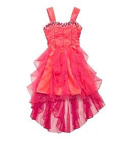 Tween Diva by Rare Editions Girls' 7-16 Glitter Mesh Cascade Gem Dress