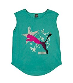 PUMA® Girls' 7-16 Sweet Pea Scoop Hem T-Shirt