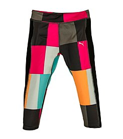 PUMA® Girls' 4-16 Techno Colorblock Capri Leggings
