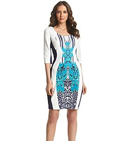 Sangria™ Paneled Design Scuba Dress