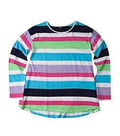 Chaps® Girls' 7-16 Hannah Striped Long Sleeved T-Shirt