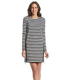 MICHAEL Michael Kors® Zip Detail Stripe Dress
