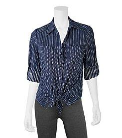 A. Byer Polka Dot Shirt