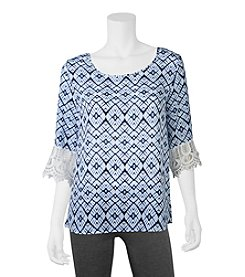 A. Byer Printed Top