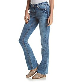 Hippie Laundry Acid Wash Flared Jeans