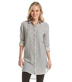 Hippie Laundry Gauze Stripe Tunic Top