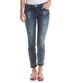 Hippie Laundry Release Hem Ankle Skinny Jeans
