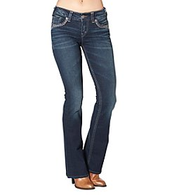 Silver Jeans Co. Suki Bling Mid Rise Bootcut Jeans