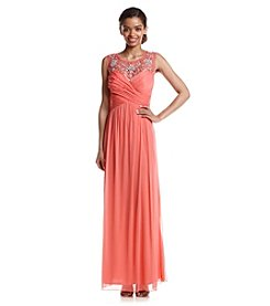 Bee Darlin' Jeweled Matte Jersey Gown