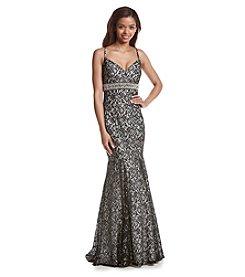 My Michelle® Lace Mermaid Dress