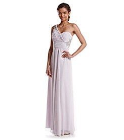 My Michelle® One Shoulder Chiffon Gown