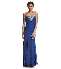 My Michelle® Jeweled Strapless Dress