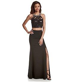 My Michelle® Sequin Halter Gown