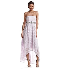 My Michelle® Lace Jeweled Gown