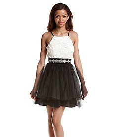 Trixxi® Lace And Tulle Dress