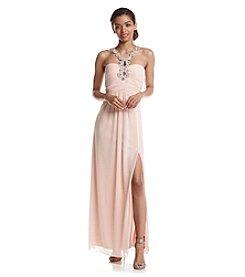 Trixxi® Beaded Halter Gown