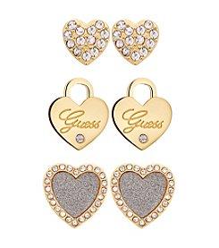 Guess Goldtone Trio Earrings Set