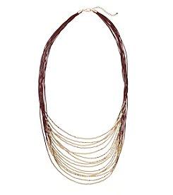 Natasha Goldtone Cord Necklace