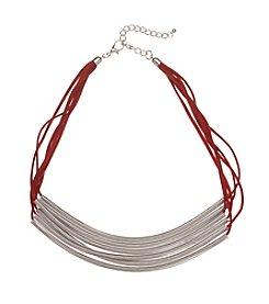 Natasha Silvertone 6 Strand Necklace