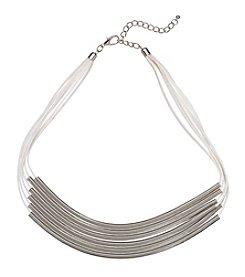 Natasha Silvertone 6-Strand Necklace
