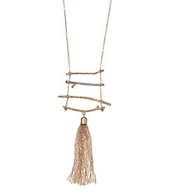 Natasha Goldtone Tassel Necklace