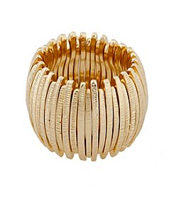 Erica Lyons® Goldtone Thin Sticks Wide Band Fashion Stretch Ring