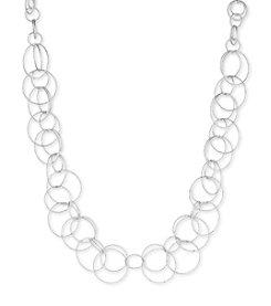 Anne Klein® Silvertone Open Link Collar Necklace