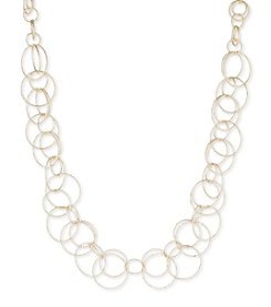 Anne Klein® Goldtone Open Link Collar Necklace