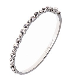 Givenchy® Silvertone Crystal Bangle Bracelet