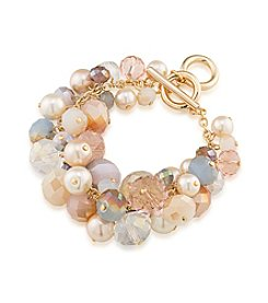 Carolee® Goldtone Radio City Cluster Bracelet