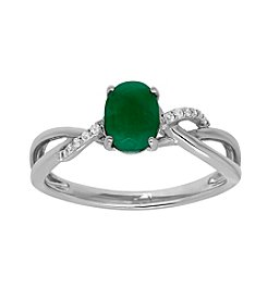 Fine Jewelry Emerald Ring in 10k White Gold