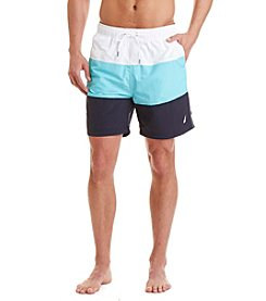 Nautica® Men's Tri-Colorblock Swim Trunks