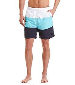 Nautica® Men's Tri-Colorblock Swim Trunks