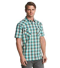 Ruff Hewn Men's Short Sleeve Heather Western Button Down Shirt