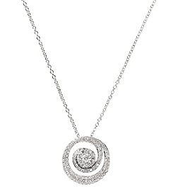 Effy® .55 ct. t.w. Diamond Pendant in 14K White Gold