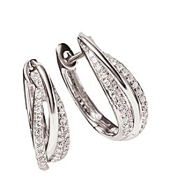 Effy® .40 ct. t.w. Diamond Hoop Earring in 14K White Gold