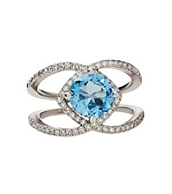 Effy® Blue Topaz & .44 ct. t.w. Diamond Ring