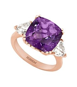 Effy® Amethyst and White Topaz Ring in 14K Rose Gold