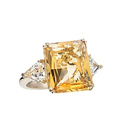 Effy® Citrine and White Topaz Ring in 14K Yellow Gold