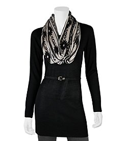 A. Byer Belted Tunic With Scarf
