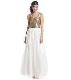 Bee Darlin' Sequin Tulle Ballgown