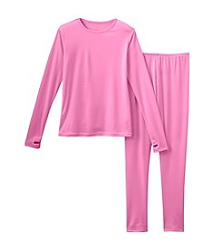 Cuddl Duds® Girls' 2T-12 Two-Piece Comfortech® Solid Base Layer Set