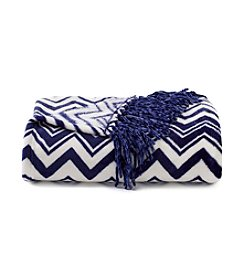 Cuddl Duds® Navy Velvet Throw