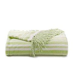 Cuddl Duds® Green Velvet Throw