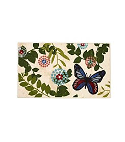 Essential Elements Floral Butterfly Accent Rug
