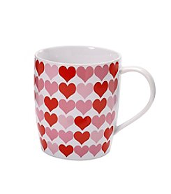LivingQuarters All Over Hearts Mug