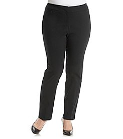 Relativity® Plus Size Straight Leg Pant