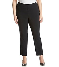 Relativity® Plus Size Solid Ankle Pants