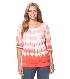 Chaps® Plus Size Tie-Dyed Jersey Shirt