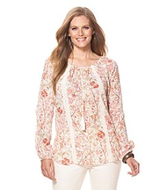 Chaps® Plus Size Floral Peasant Top